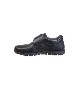 Chaussures de ville velcro cuir